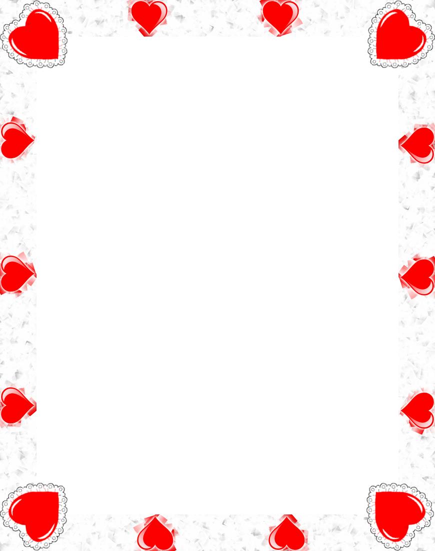 Heart Border Clipart - Clipart Kid