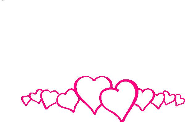 Hot Pink Heart Border Clip Art At Clker Com Vector Clip Art Online
