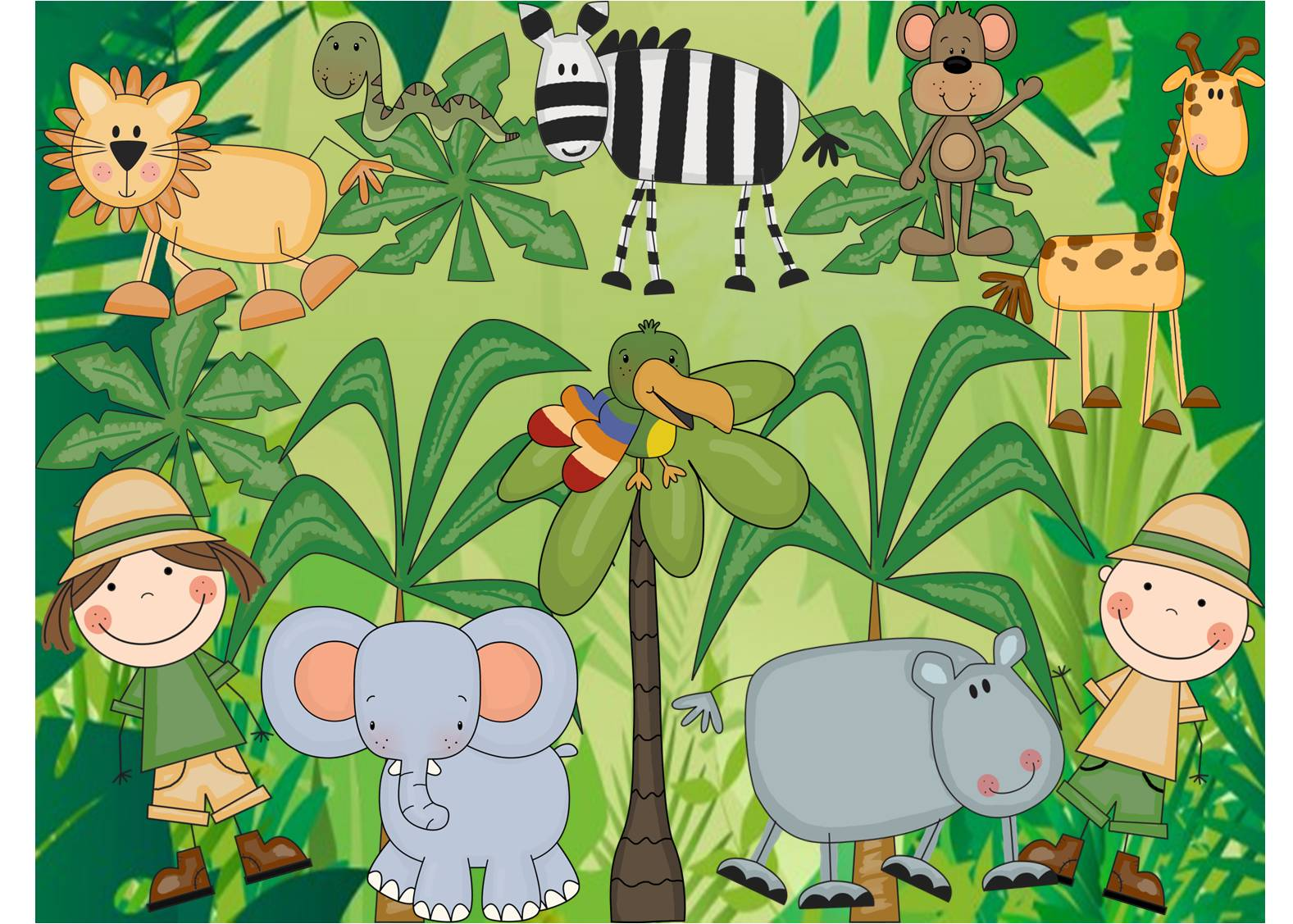 Jungle Safari  Thanks To Scrappin  Doodles And Their Lovely Clipart