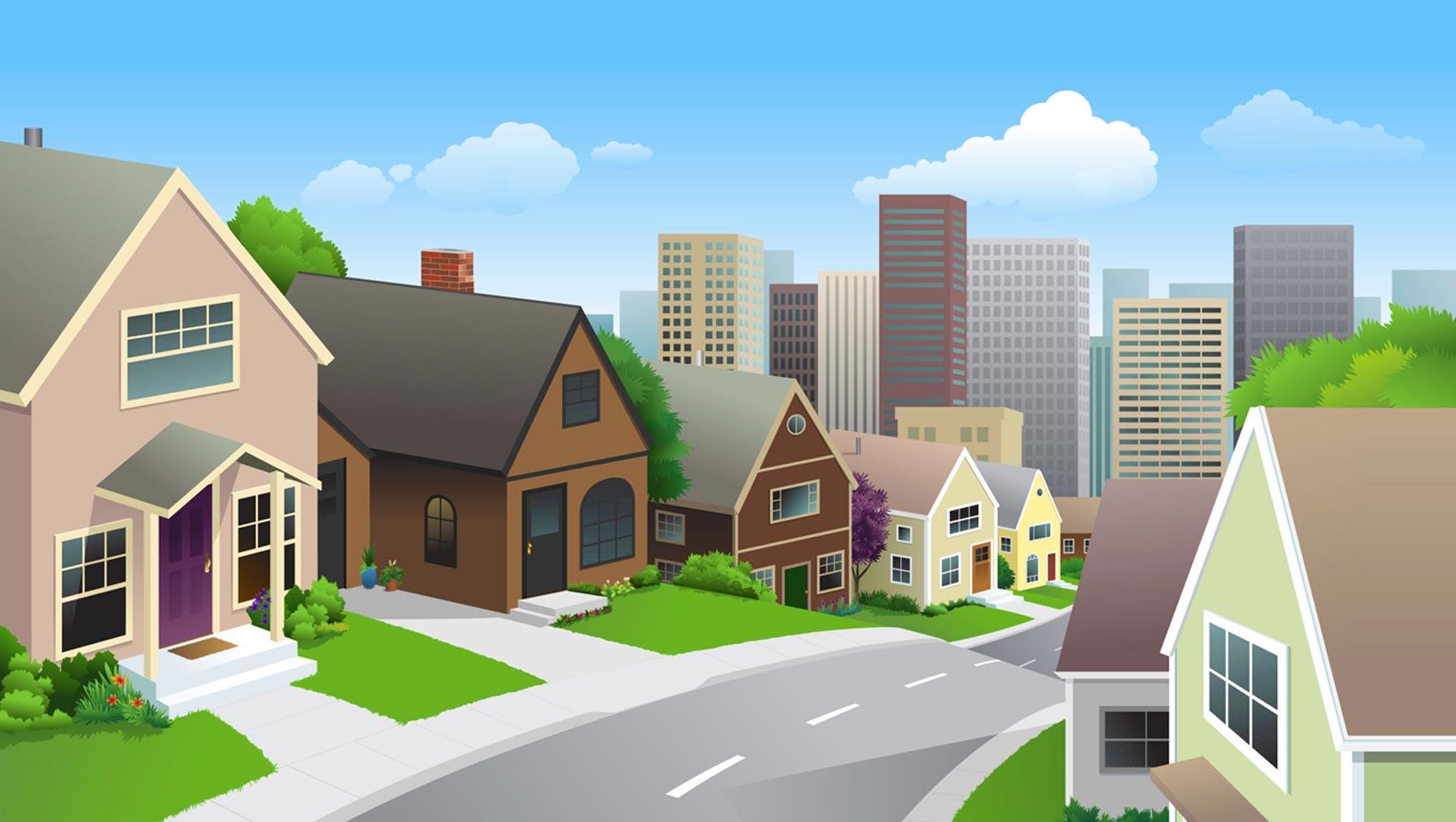 Image gallery neighborhood clip art cartoon for Good house images