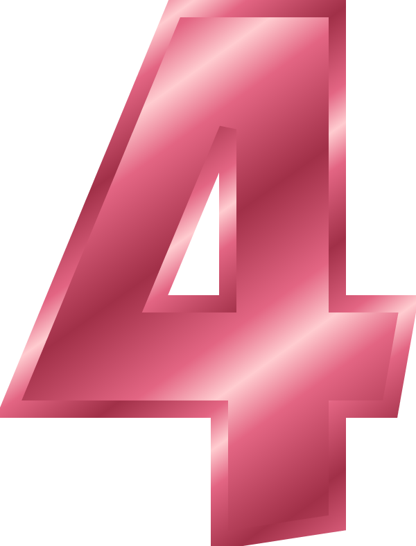 Number 4   Vector Clip Art