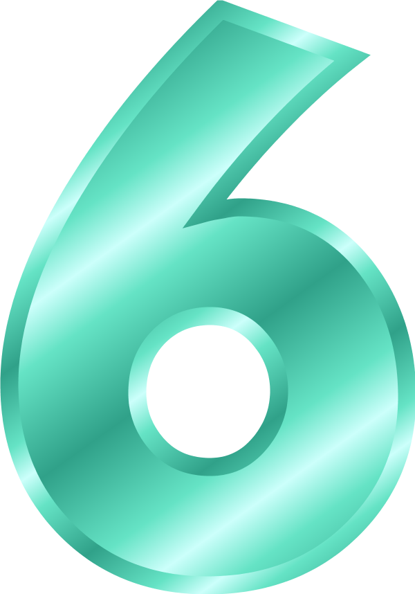 Number 6 Vector Clip Art