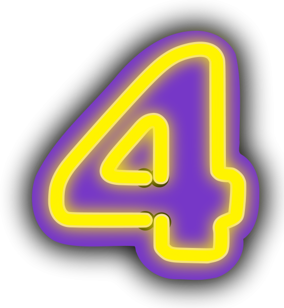 Number Four Clipart Medium Size