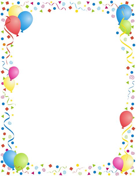 Birthday Border Clip Art Free Party birthday border clipart - clipart ...