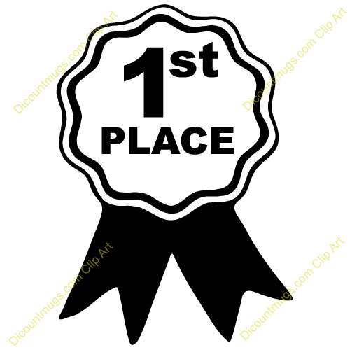 Clipart 12408 First Place   First Place Mugs T Shirts Picture Mouse