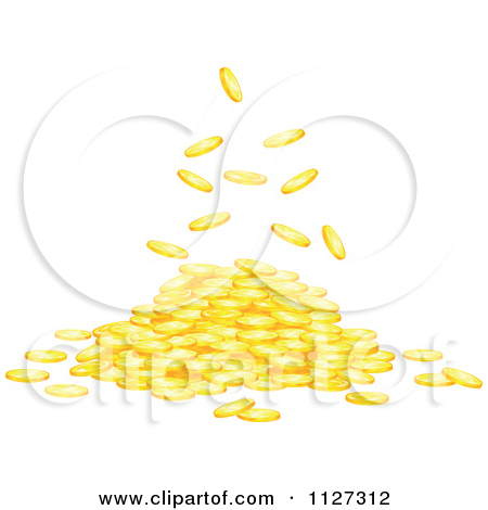 pile of gold coins clipart clipart kid