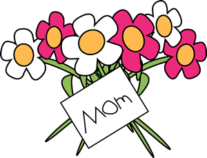 Happy Mother S Day Flowers Clip Art Image   Mother S Day Flowers With