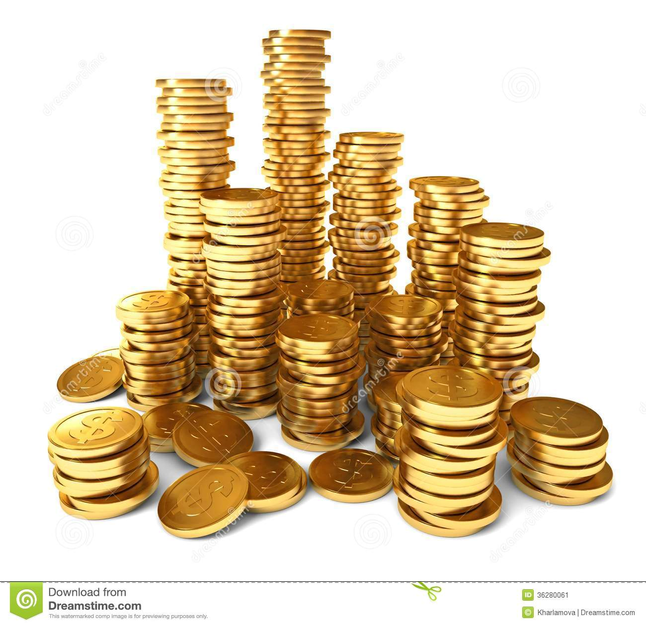 Pile Of Gold Coins Clipart - Clipart Suggest