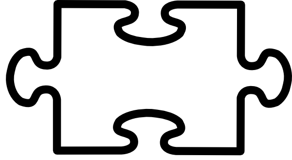 Blank Puzzle Piece Cliparts on Jigsaw Puzzle Templates
