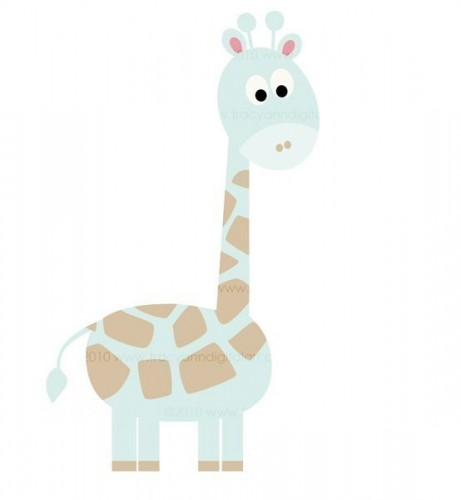 Baby Blue Giraffe   Clip Art   Tracyanndigitalart   Graphics On