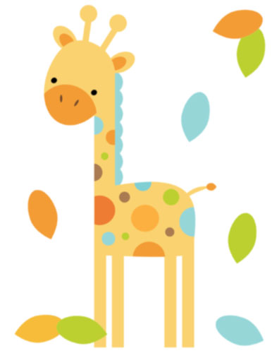Baby Boy Giraffe Clipart Giraffe Mural For Baby Boy