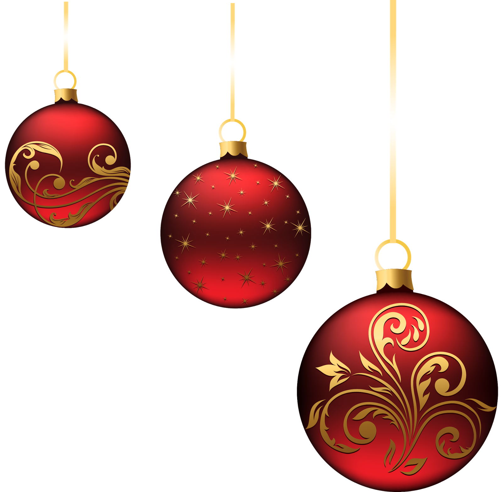 Gold xmas ornaments clipart suggest