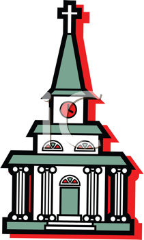 Christianity Clip Art Image  Church With Steeple