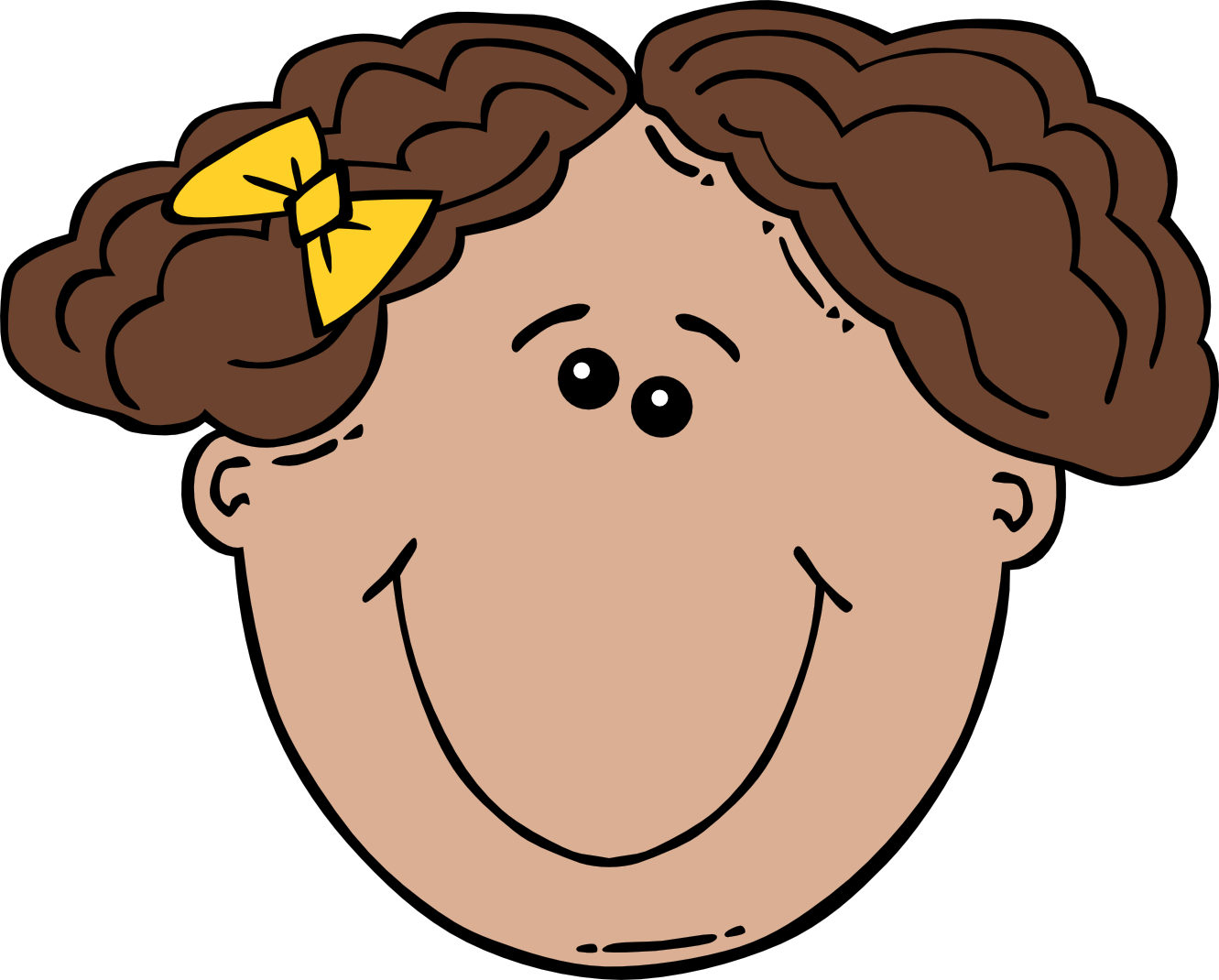 Clip Art  Girl Face Cartoon Openclipart Org Commons