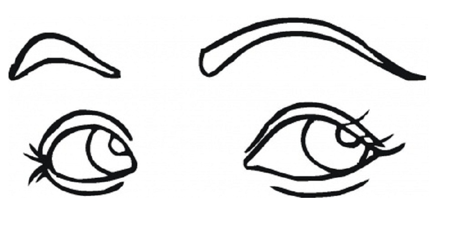 Eyes Coloring Pages Clipart