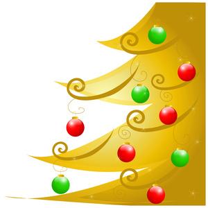 Gold Xmas Ornaments Clipart - Clipart Kid