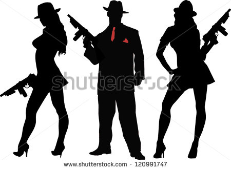 Gangsters   Stock Vector
