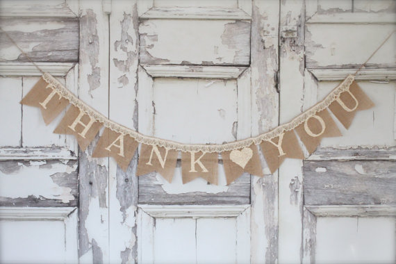 Heart Banner Lace Burlap Banner Wedding Sign Photography Prop