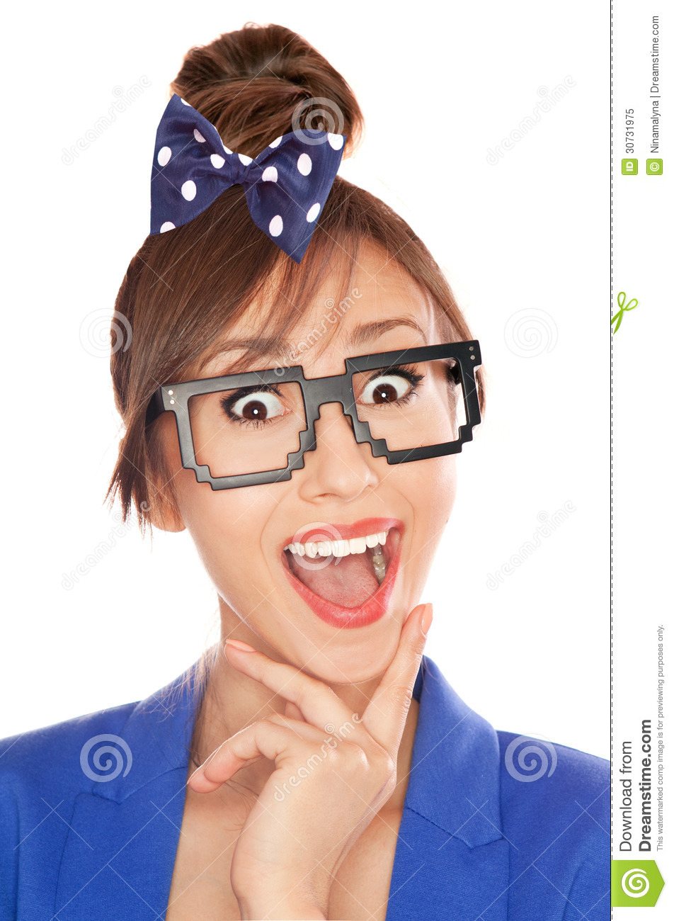 Nerdy Girl Royalty Free Stock Photo   Image  30731975