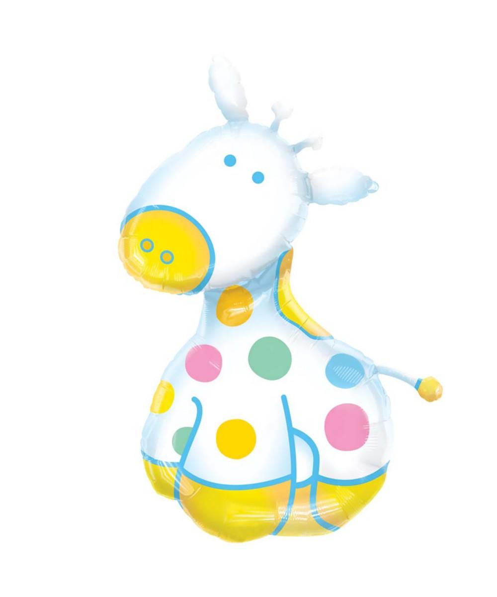Giraffe baby shower clipart clipart suggest for Balloon art for baby shower