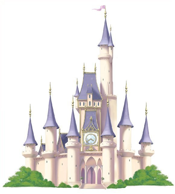 Princess Castle Disney Mini Mural Kids Decorating Ideas