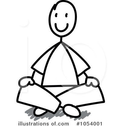 Sit Black And White Clipart - Clipart Kid