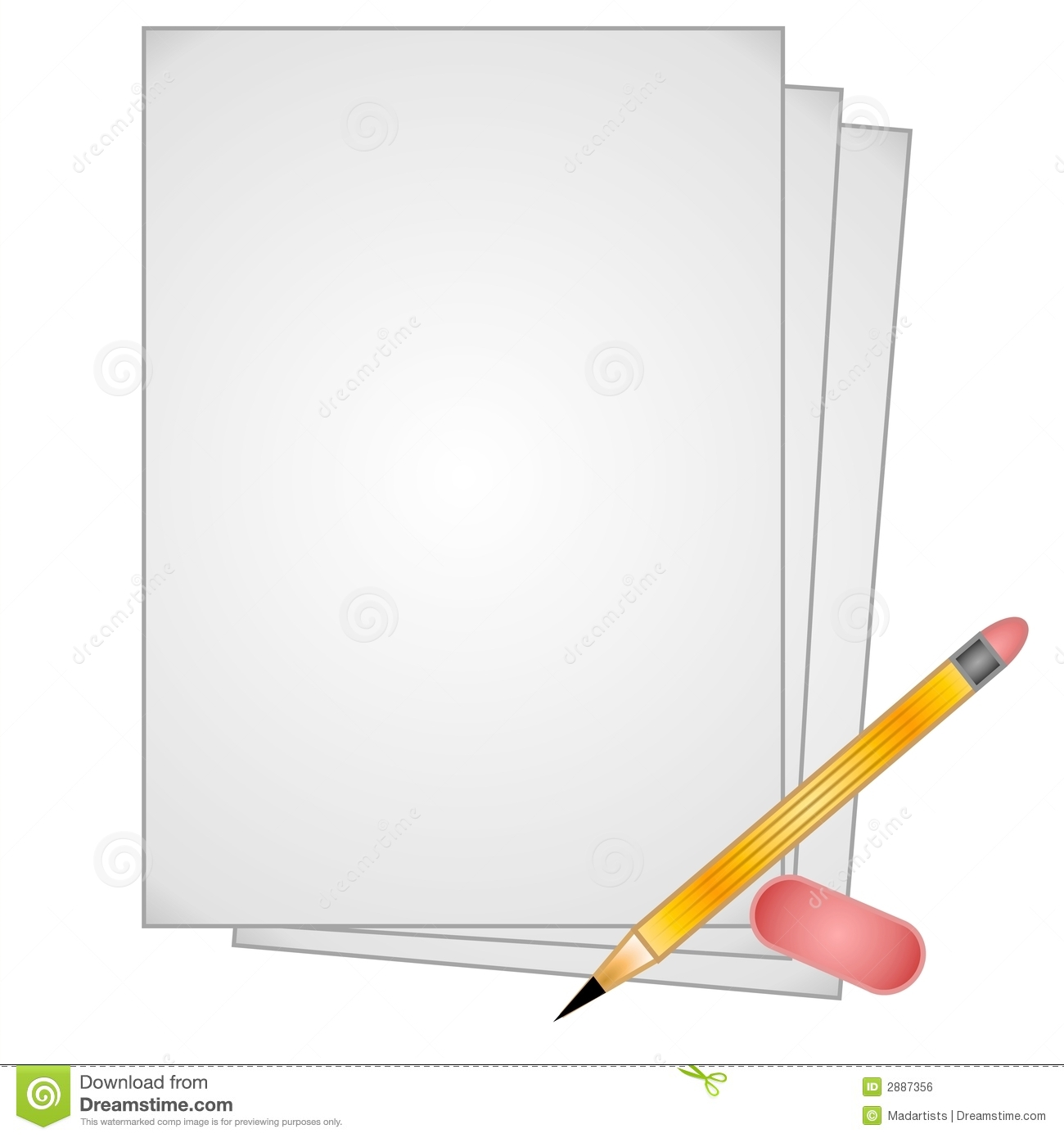 paper and pencil clipart - photo #24