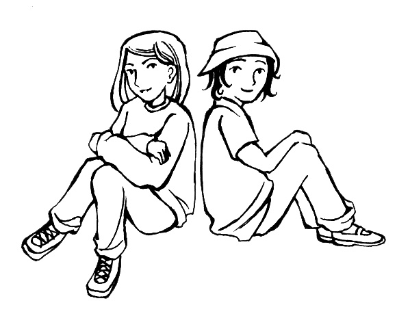 Two Friends Clipart Black And White   Clipart Panda   Free Clipart