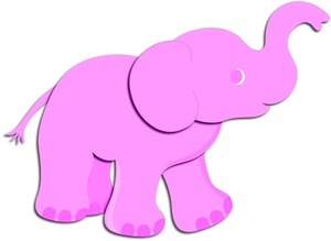 Baby Elephant Clipart Image   Pink Baby Elephant Looking For Mommy