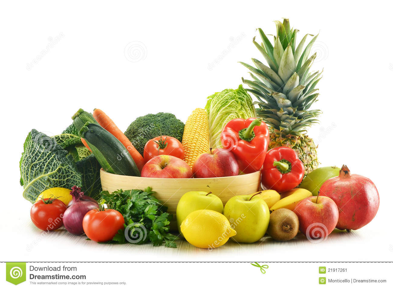 Basket Of Vegetables Clipart Vegetables And Fruits In