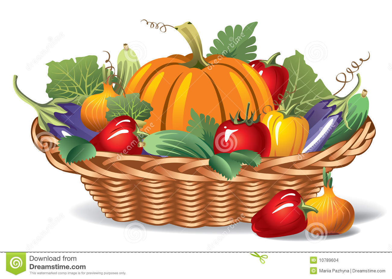 vegetable basket clipart clipart suggest