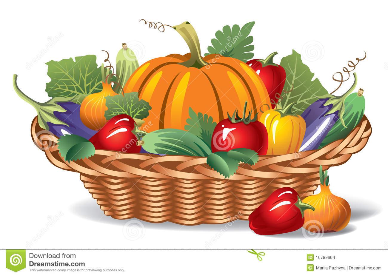 Рисунки корзин с овощами