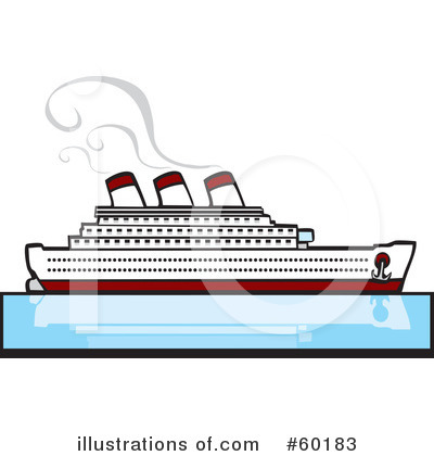 Cruise Ship Clip Art Black And White  Rf  Cruise Ship Clipart