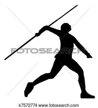 Drawing   Javelin Thrower  Fotosearch   Search Clip Art Illustrations