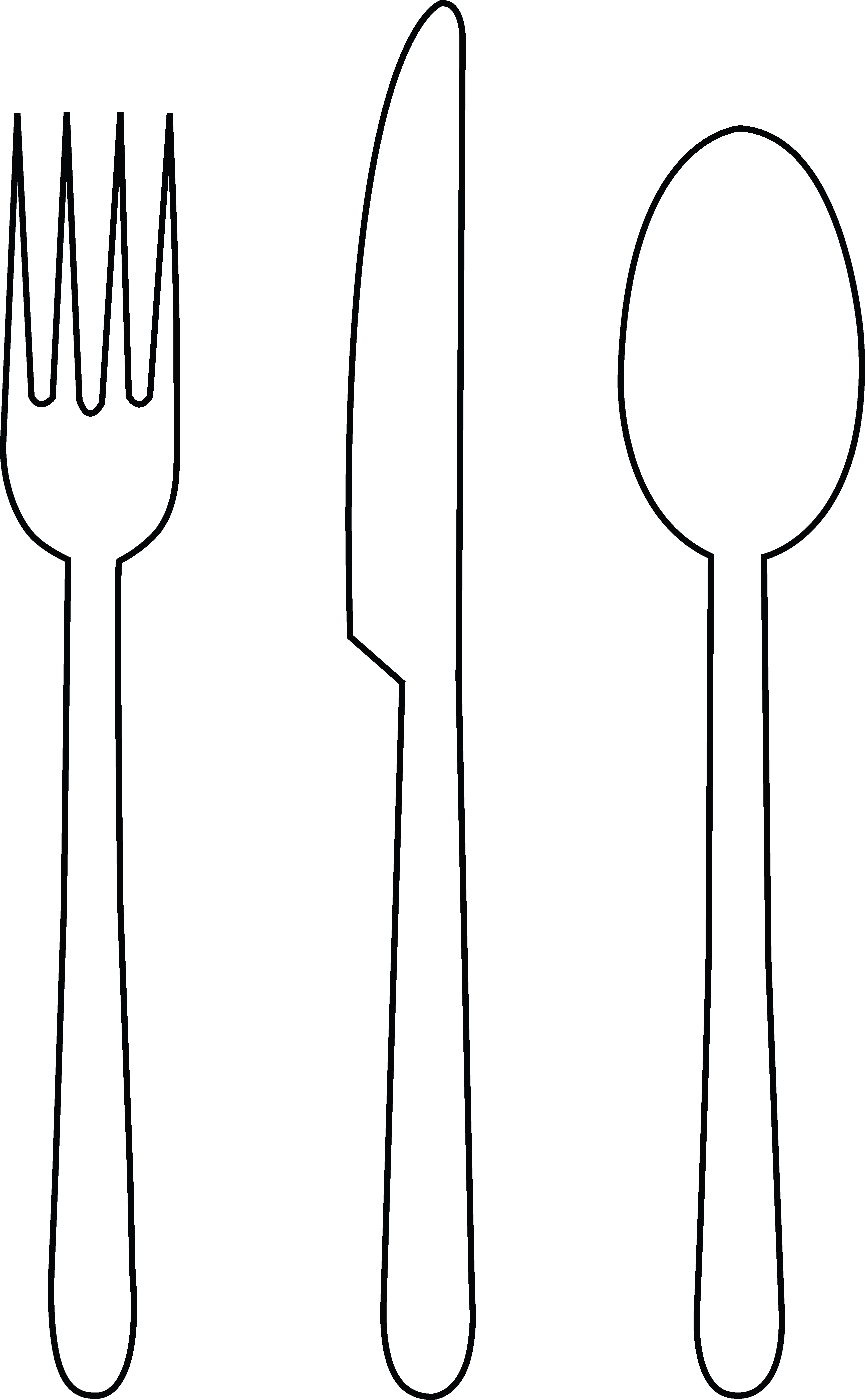 Fork Clipart Black And White   Clipart Panda   Free Clipart Images