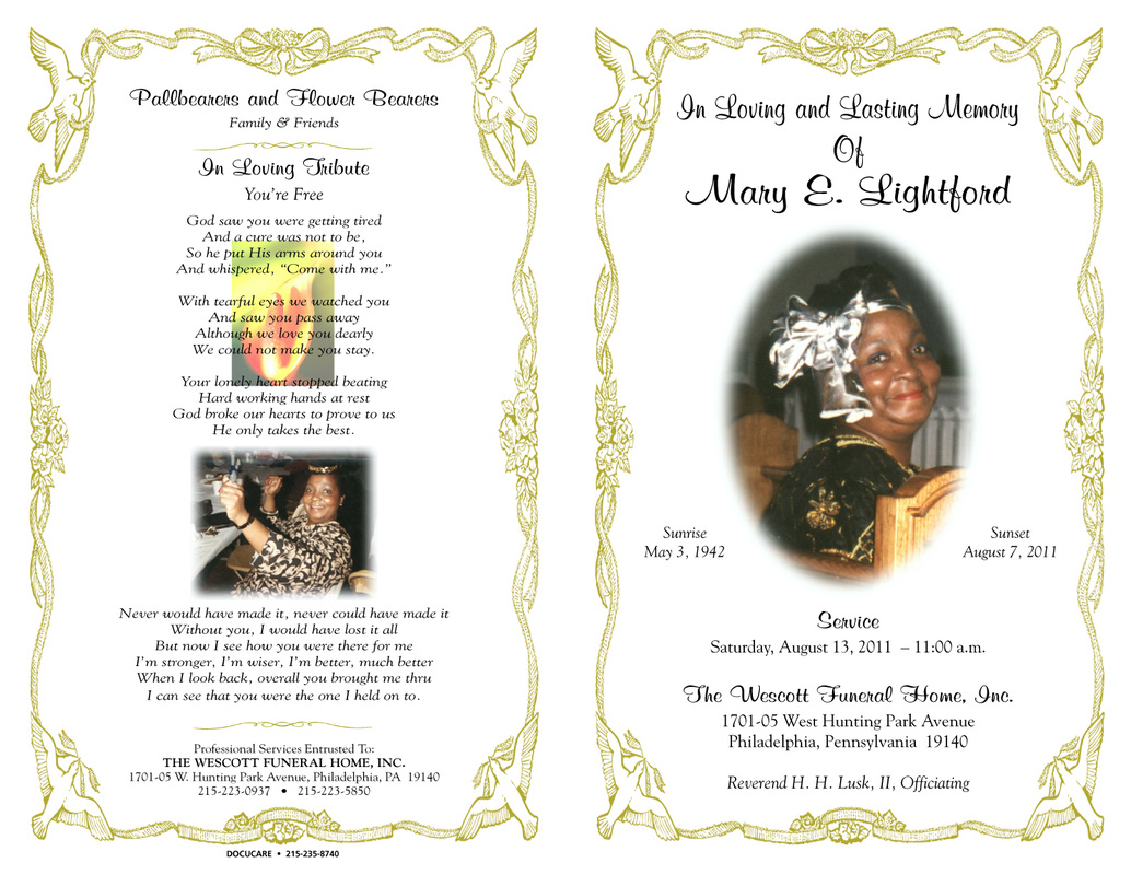 Funeral Program Clipart Clipart Kid – Funeral Program Background