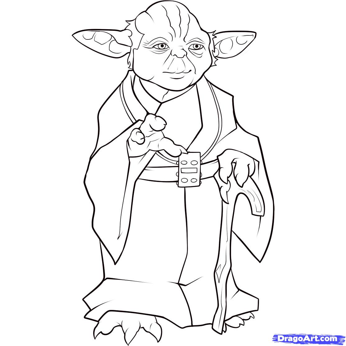 Star Wars Characters Black And White Clipart