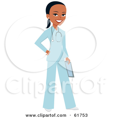 Free  Rf  Clipart Illustration Of A Friendly Black Female Doctor
