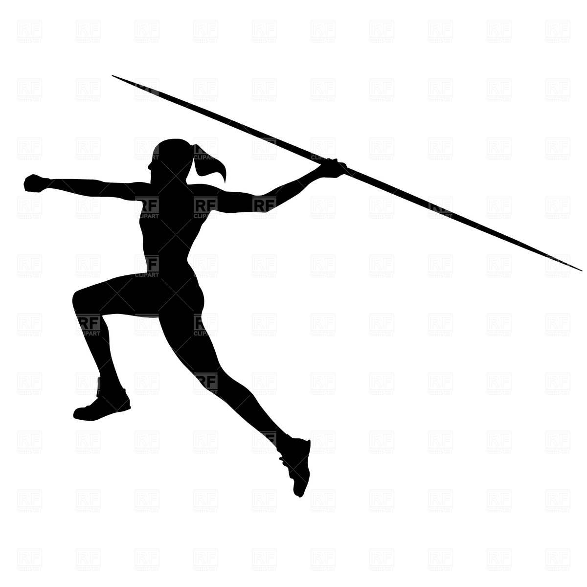 Free Vector Vector Clip Art Javelin Throw Silhouette   Hd Walls   Find