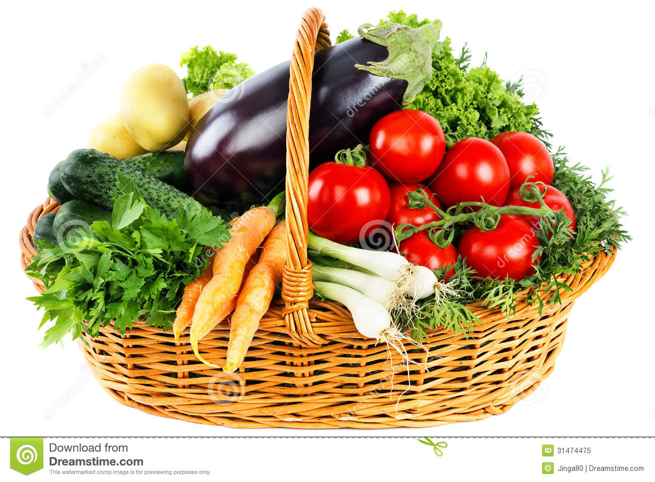 Fresh Vegetables In Basket Royalty Free Stock Photo   Image  31474475