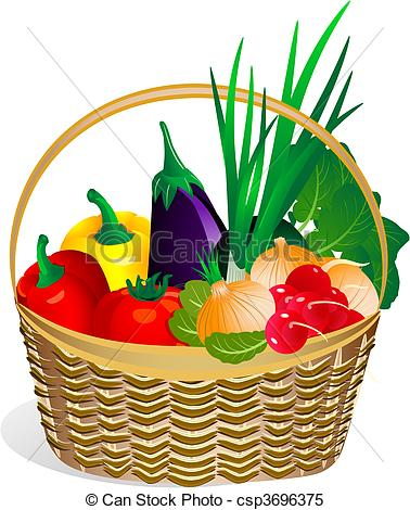 Fruit And Vegetables Basket   Clipart Panda   Free Clipart Images
