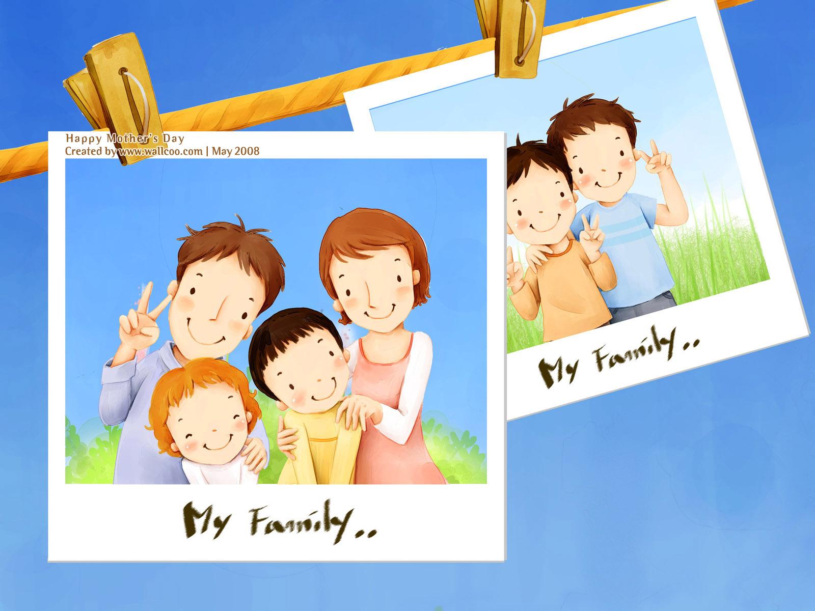 Happy Family Cartoon Clipart - Clipart Kid