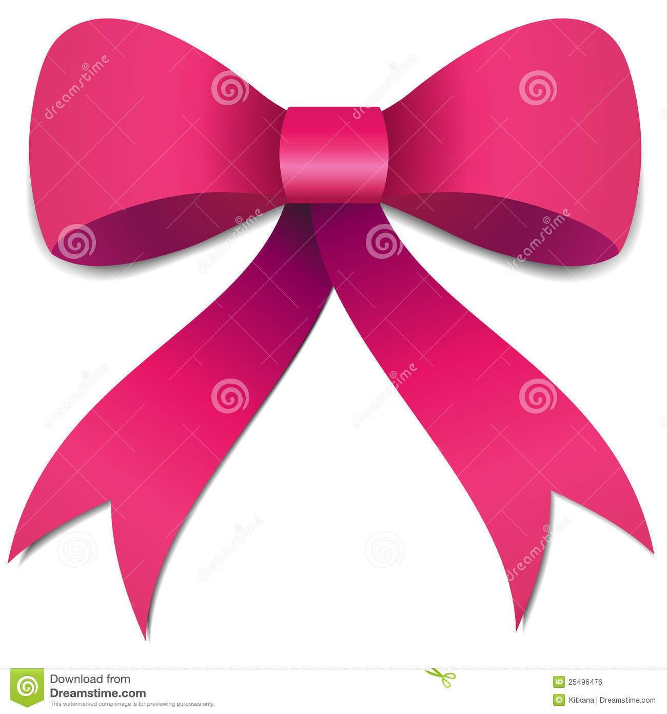 Pink Bow Clipart Transparent