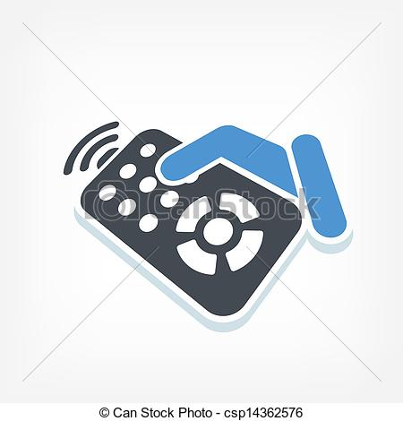 Illustration Of Remote Control Label Icon Csp14362576   Search Clipart