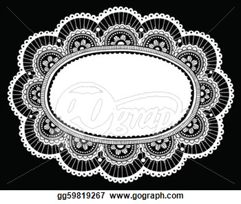 Crocheting Vector : Lace Doily Crochet Border Vector