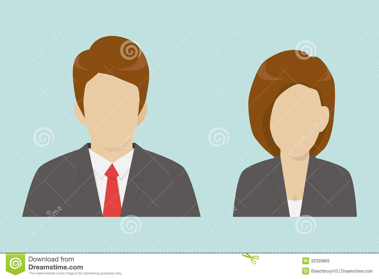 Male And Female Business Icons Royalty Free Stock Photo   Image