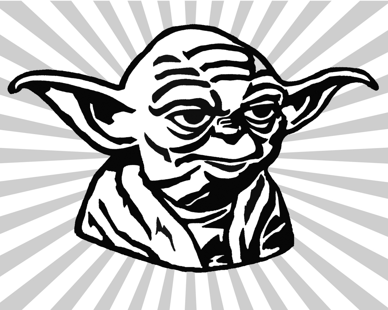 Star Wars Yoda Black And White Clipart - Clipart Kid