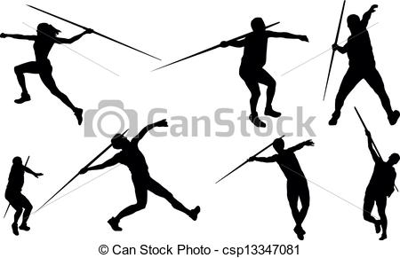 Vector Of Javelin Throw Csp13347081   Search Clip Art Illustration