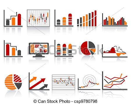 Vector Of Simple Color Financial Management Reports Icon   Different