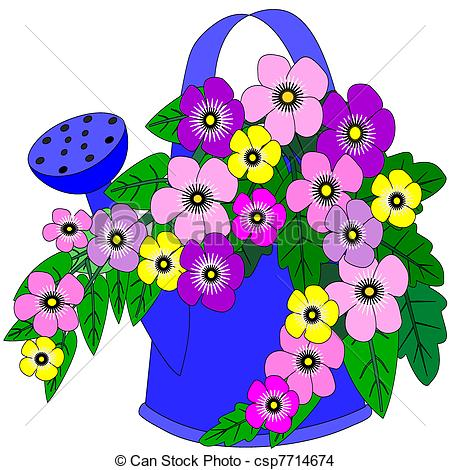 Pretty Watering Can Clipart - Clipart Suggest